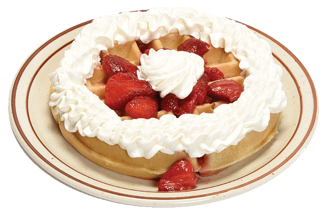 Belgian waffle and strawberries
