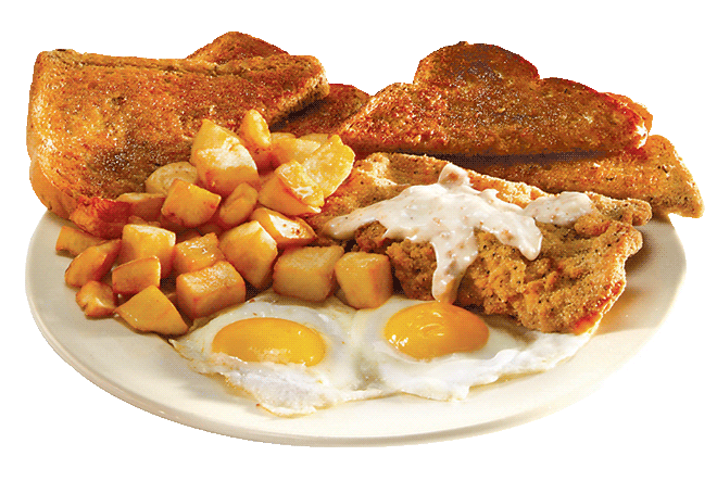 Country Fried Steak and Eggs