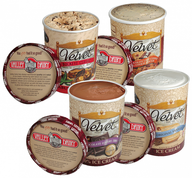 ice cream cartons