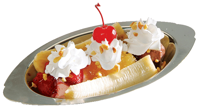 mini banana split