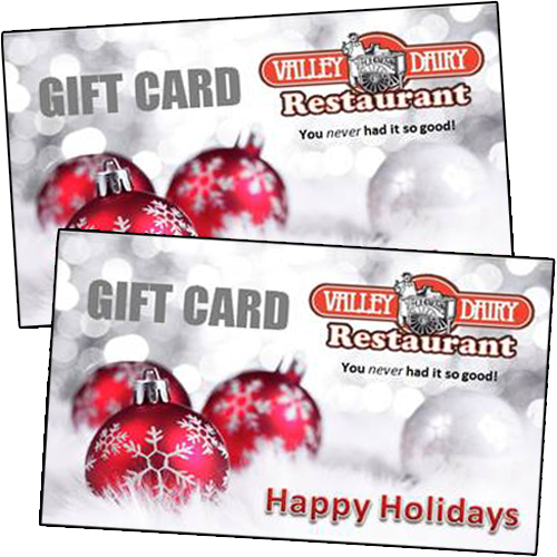 valley dairy gift cards